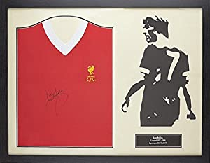 Kenny Dalglish signed & framed Liverpool official retro shirt with COA and proof by Allstarsignings
