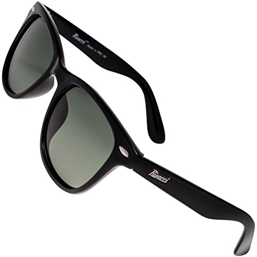Rivacci Polarised Sunglasses for Mens And Womens - Anti Glare Driving Glasses UV Protection - Cool Retro Vintage Designer Sunglass Wayfarer / Aviator / Clubmaster