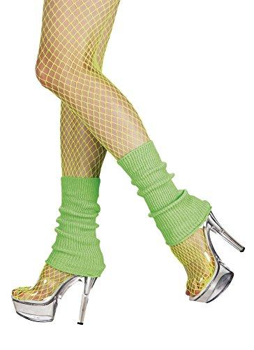 80er Jahre Stulpen Beinstulpen neon-grün (80er Kostüm Paar Einfach)