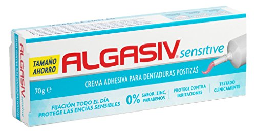 ALGASIV - Crema adhesiva sensitive para dentadura postizas - 70g