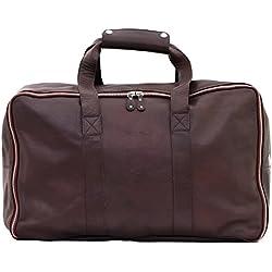 LE GLOBE-TROTTER Bolso de viaje de piel maletas color marrón oscuro PAUL MARIUS