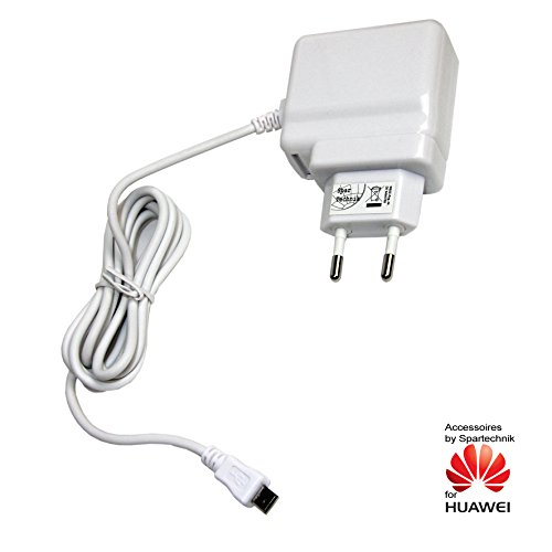 230V Schnellladegerät mit 2 Ampere von Spartechnik für Huawei Tablet MediaPad M1 8.0 Media Pad Ladegerät, Reiselader 110 - 230 Volt 2A - weiß