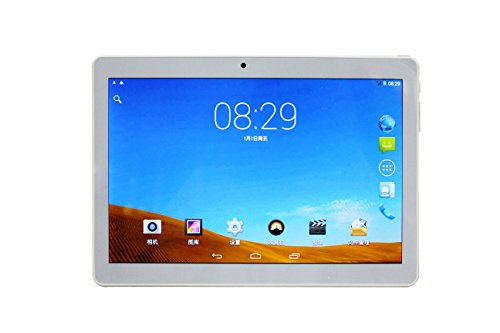 "JT High Definition 10.1"" Quad Core ,1080P G sensor , 16 GB Wi-Fi + 3G + Calling Tablet , White"