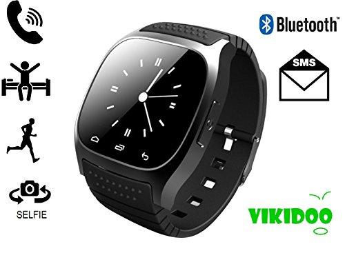 M26SmartWatch con pantalla táctil, Bluetooth, reloj con manos libres compatible con Android y iOS,color negro
