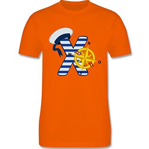 Anfangsbuchstaben - X Schifffahrt - Herren Premium T-Shirt Orange