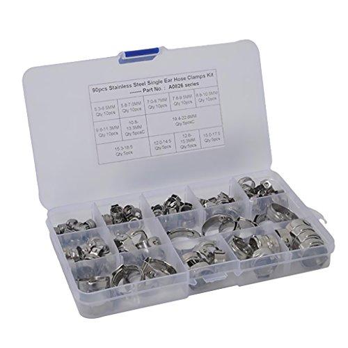 Homyl Pinces O pour Colliers de Serrage Tuyaux Pneumatique - 90x 5.3-22.6mm