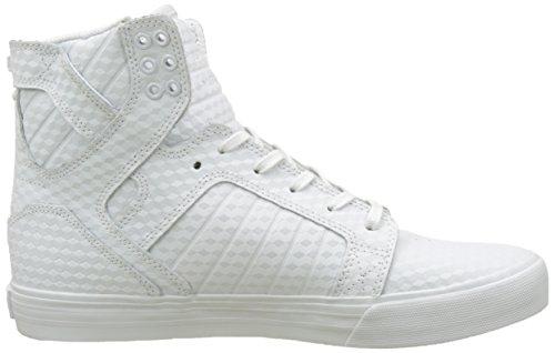 Supra Skytop, Sneakers Alte Unisex - Adulto Bianco (White)