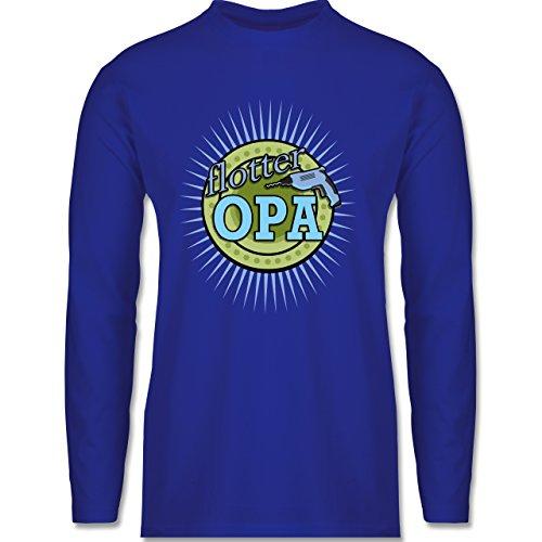Shirtracer Opa - Flotter Opa - Herren Langarmshirt Royalblau