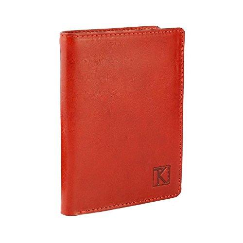 TK 1979 - Petit classique / Portefeuille homme cuir CAMEL TK025 130X95 MM - PACK Cadeau Noel - Orange, Cuir