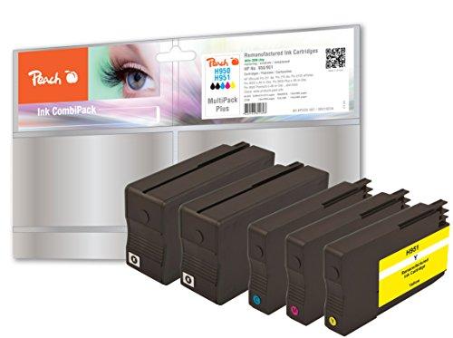 Preisvergleich Produktbild Peach Spar Pack Plus Tintenpatronen kompatibel zu HP No. 950, No. 951