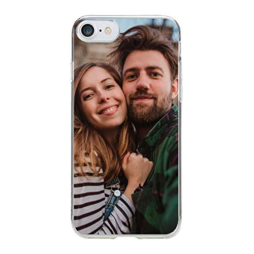 d01c9b9321b APRIL Funda Personalizada rígida Bordes Blanco iPhone 5 5S 6 Plus 6S Plus 7  8 X