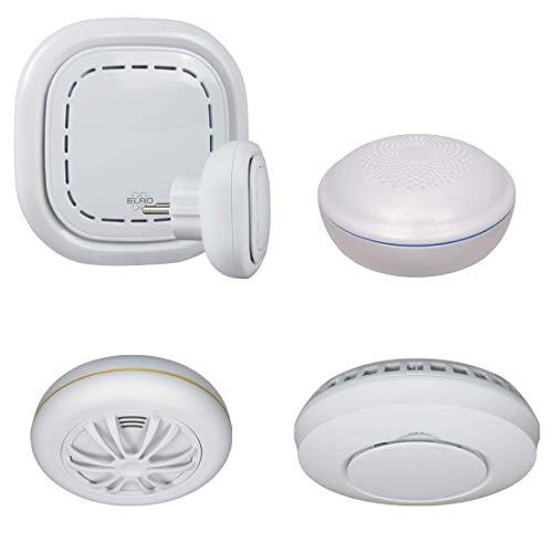 ELRO Connects SF400D Detektor Kit-Komplettes Set K1 Connector Rauchmelder Hitzemelder + Funk-Wassermelder-Warnt per Smartphone