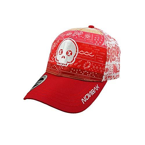 NONBAK Trucker Cap Transpirable Logo 3D, muy ligera, 6 paneles, tejido malla. EDICIÓN Limitada (Aloha Calavera)