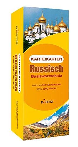 Karteikarten Russisch Basiswortschatz: Mehr als 500 Karteikarten. Über 1500 Wörter.