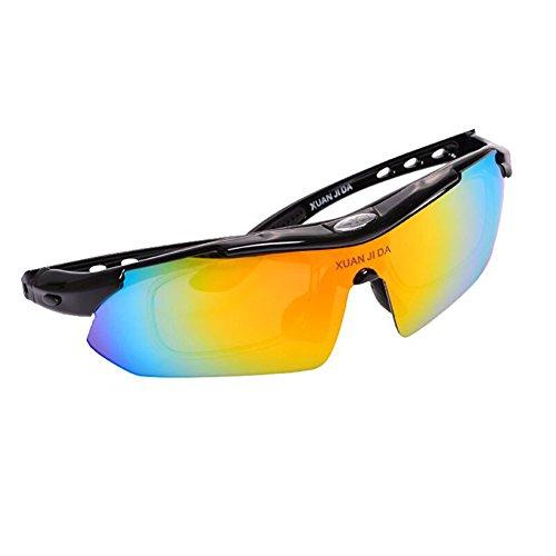 Sunny Honey Radfahren Sonnenbrillen - Sonnenschutz Outdoor Polarisation - Mit Kurzsichtige Rahmen (Farbe : A)