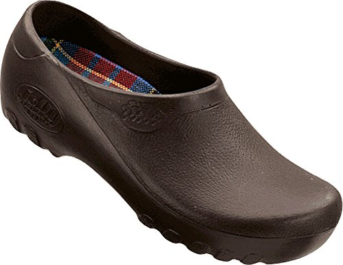 ALPRO Jolly Fashion Herren Clogs PU, Braun, Größe 41 mit normalem Fußbett (Alpro Clogs)