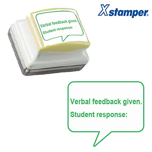 Verbal Feedback Given. Student Response: Lehrer Stempel. 31x 26mm selbstfärbender Xstamper–Grün Tinte