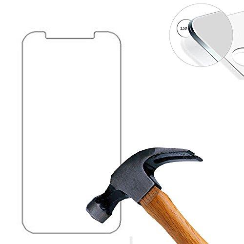 Lusee® 2 X Pack Panzerglasfolie Tempered Glass Hartglas Schutzfolie für Archos 50 Cobalt Plus Premium Screen Folie Protector Ultra Hart Displayschutz 0,3mm 9H clear 2.5D