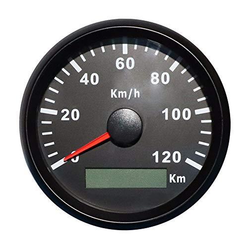 ELING GPS Tachometer Geschwindigkeitsmesser 120KM / H für Auto Motorrad Boot Yacht mit Hintergrundbeleuchtung 85mm 12V / 24V