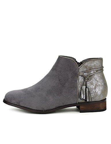 Cendriyon Bottine Grise WILANIE Moda Chaussures Femme