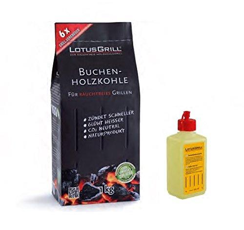 Lotus Grill Gel Combustibile Inodore per Barbecue e Carbonella Faggio 1KG