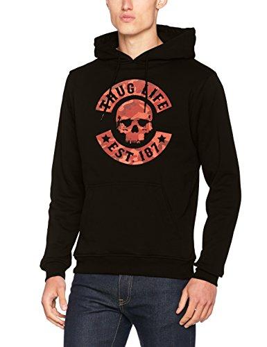 Thug Life Herren Camo Hoody Hoodie black/Red