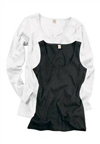 Set Langarmshirt + Top von AJC weiß/schwarz Weiß/Schwarz