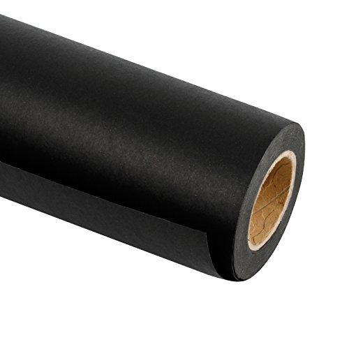 RUSPEPA Schwarze Kraftpapierrolle - 122 Cm X 30 M - Recyclingpapier, Ideal Für Die Geschenkverpackung, Basteln, Verpacken, Bodenbeläge, Füllmaterial, Paket, Tischläufer