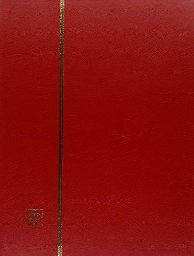 Preisvergleich Produktbild Briefmarken Einsteckbuch BASIC, 64 schwarze Seiten, Einband unwattiert in Rot, DIN A4