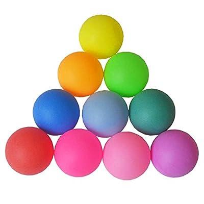 Nicedier-Tech Couleur Balles, Balle de Tennis de Table Plastique, Multiple-Functional givré Balles 12Pcs