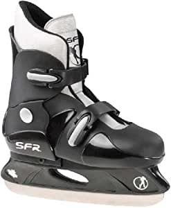 SFR Boys Adjustable Hardboot Hockey Ice Skate - UK 3 to 6