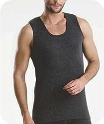Bodycare Men Thermal CutSleeve / Sleeveless Top / Vest (Pack of 2) (80, Grey)