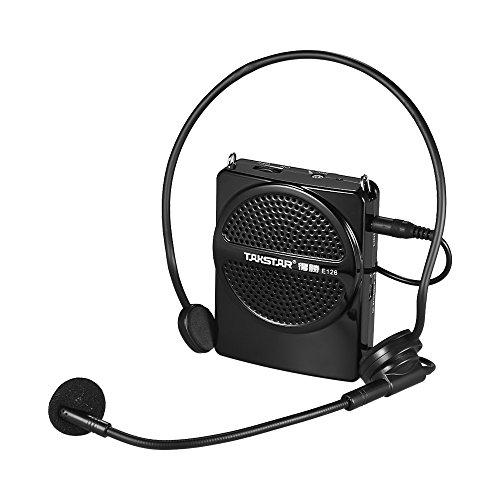 ammoon Amplifier Lautsprecher Headset TAKSTAR E126 8W Mini Size Wiederaufladbare Voice Verstärker mit Kabelmikrofon AUX-Eingang für Tour Guides Lehrer Präsentationen