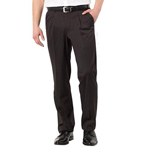 Castaluna For Men Uomo Pantaloni A Righe Con Pinces Taglia 66 Nero