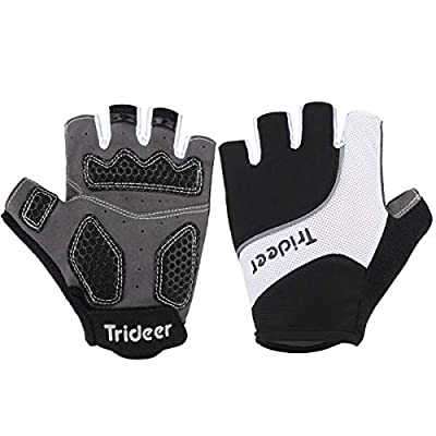 Trideer Cycling Gloves, Breathable Outdoor Bike Gloves Mountain Road Bike Gloves Anti-Slip, Bicycle Racing Gloves for Men & Women