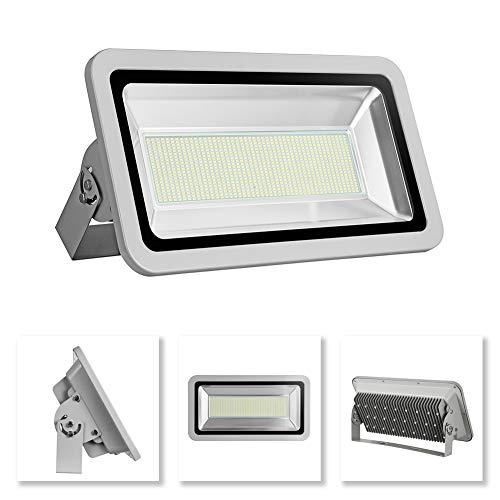 Projecteur LED 500W, 50000 Lumens, IP65 étanche, Lumières de sécurité super brillantes extérieures, Lumières murales de paysage de Floodlight, Blanc Froid 6000~6500K