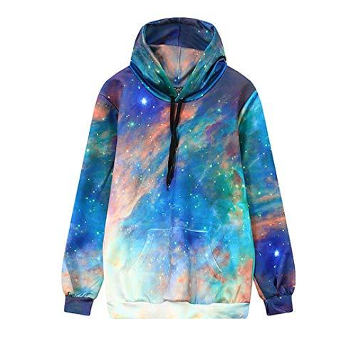 Realistischer Kapuzenpullover 3D-Pullover Print Star Sweatshirt Loose Large Size Long Sleeve Women's Sweater Baseball Suit Elasticity, L -