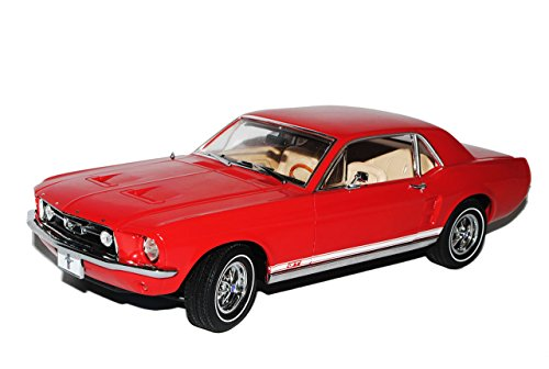 Greenlight Defektes Modell Ford Mustang Coupe Rot 1967 Candy Apfel 1/18 Modell Auto Coupe Candy