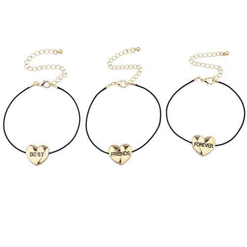 lux-accessoires-bracelet-dore-coeur-best-friends-forever-puff-noir-lot-de-3
