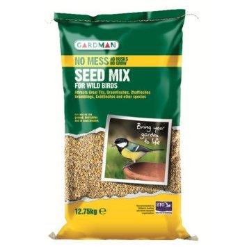 Gardman No Mess Wild Bird Seed Mix 12.75kg by Greenfingers