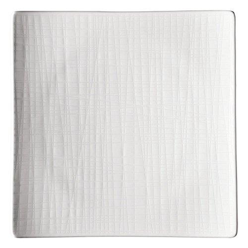Rosenthal 11770-800001-16182 Mesh Teller, flach, quadratisch, 22 cm, weiß