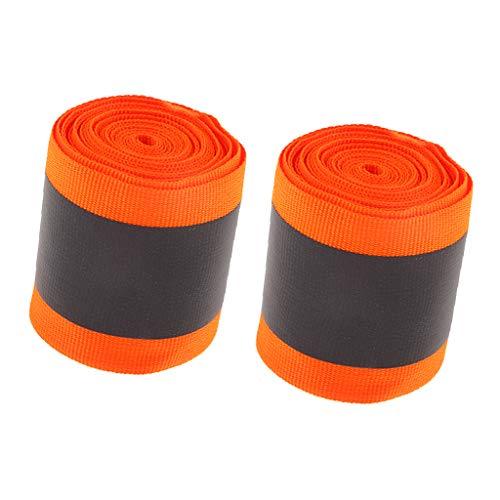 FLAMEER 2 Rolle Orange Polyester Reflektierende Gurtband für Shirts Hund Mantel - Shirt Fahrrad Reflektierende