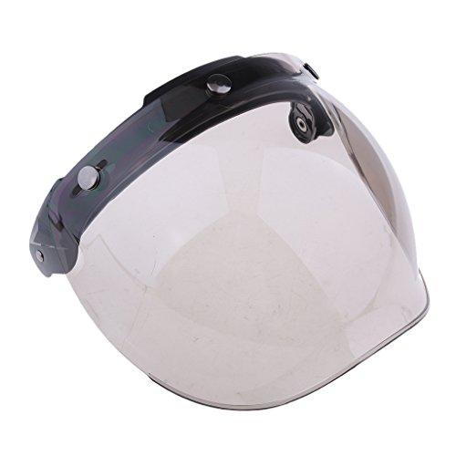 Homyl 1 Stück Universal 3-Snap Blasenschild Windschild Visier Flip up Ersatz Visier Schutzschild Blasenschild für Motorradhelme - Farbe # 2
