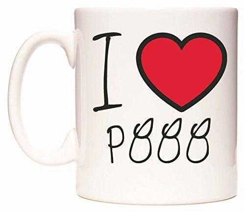 I Love P888 Becher von WeDoMugs
