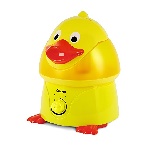 Crane 3 in 1 Cool Mist Ultrasonic Humidifier Air Purifier Air Freshener 1 Gallon/3.3 Liters Creative Amphibian Style Humidifier for Infant Animal Portable Quiet Auto Shut-off Humidifier for Interiors -Duck