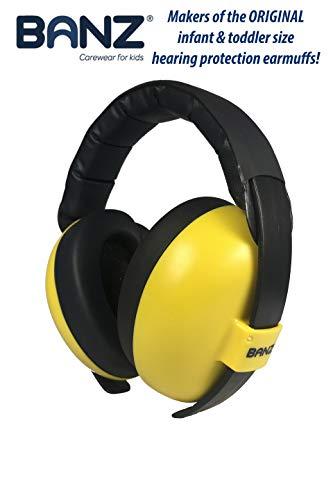 BANZ Ohrenschützer mit Schutz für Babys und Kleinkinder (Klassifizierung der Branchenführer für Lärmreduzierung und Lärmschutz) Gelb