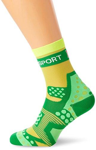 Compressport Run Ultralight - Calcetín de running unisex, color verde, talla 2