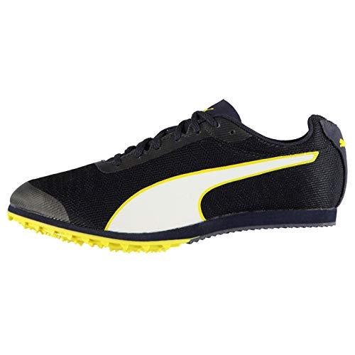 Puma Unisex-Kinder Evospeed Star 6 JUNIOR Leichtathletikschuhe Schwarz (Peacoat Black-Blazing Yellow 4), - 4 Puma Star