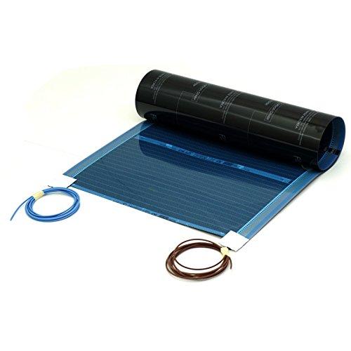 Fussbodenheizung elektrisch 0,5x2m für Laminat Parkett Echtholz Vinyl auf HDF - Echtholz-laminat