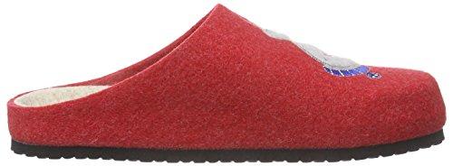 Pantoufles Collection 70 Rouge non Rot Hans doublées rosso Herrmann Hhc femme wUq7SPR